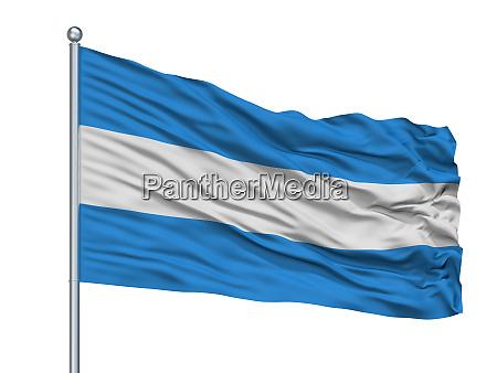 tienen city flag on flagpole belgium