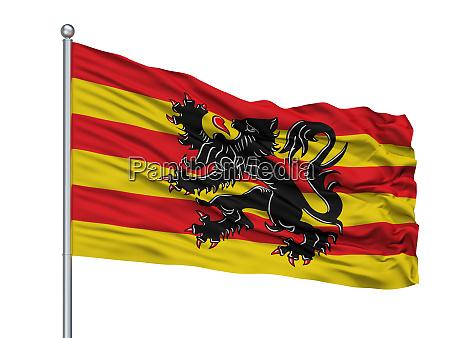 oudenaarde city flag on flagpole belgium