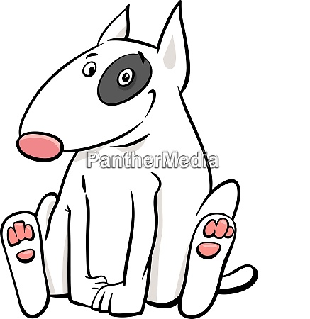 bull terrier dog cartoon animal character