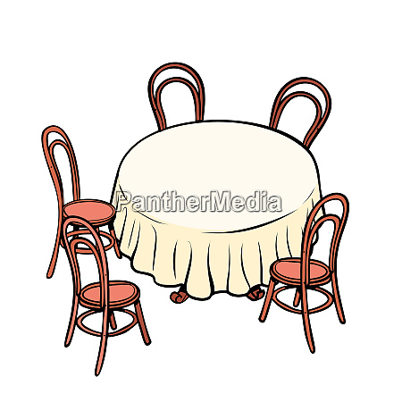 round dining table and chairs around