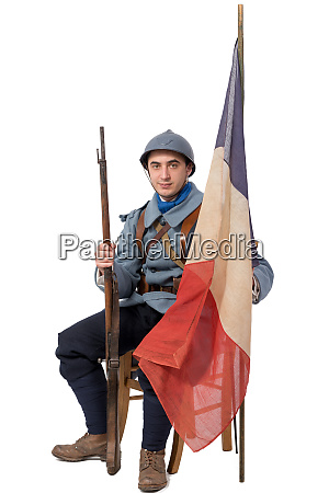 french soldier 1914 1918 sitting