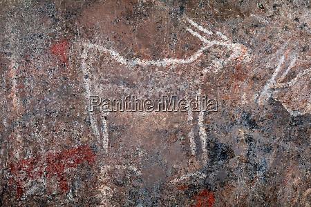 bushmen rock painting south africa