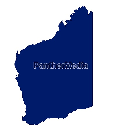 western australia state silhouette