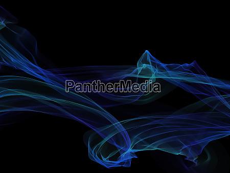 dunkler abstrakter hintergrund mit gluehende abstrakte