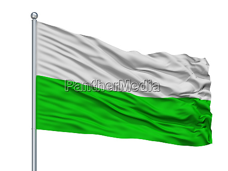 fusagasuga city flag on flagpole colombia