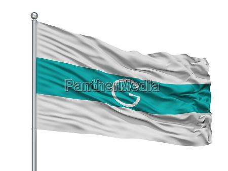 galapa city flag on flagpole colombia