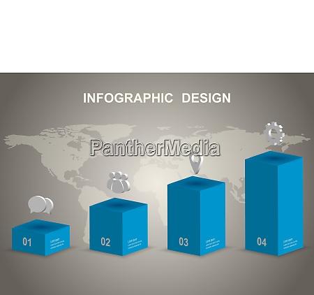 moderne 3d infografik designvorlage
