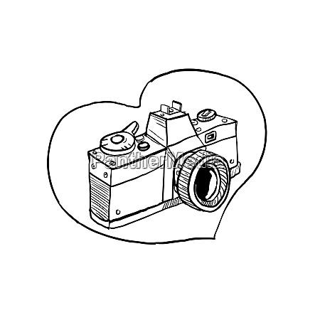 vintage 35mm spiegelreflexkamera herzfehler