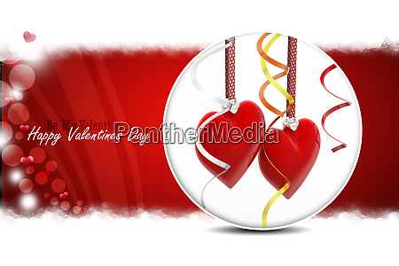 red love heart valentines day concept