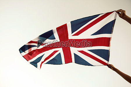uk flag close up