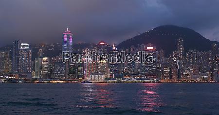 victoria harbour hong kong 13 april