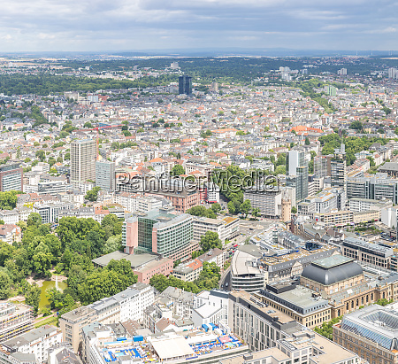 luftaufnahme frankfurts deutschland