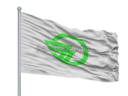 gojo city flag on flagpole japan