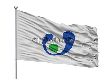asahi city flag on flagpole japan