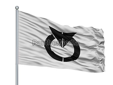 chino city flag on flagpole japan