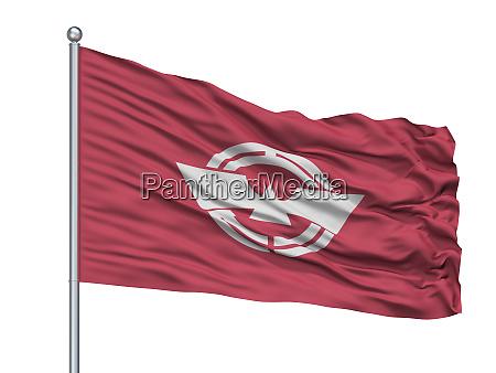 ebina city flag on flagpole japan