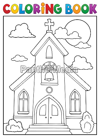 haus gebaeude kirche farbe gotteshaus malen