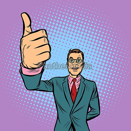 man thumb up like