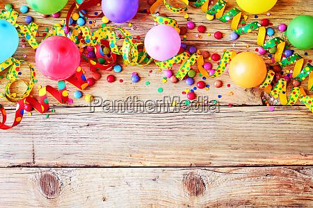 karneval oder geburtstag hintergrund und party