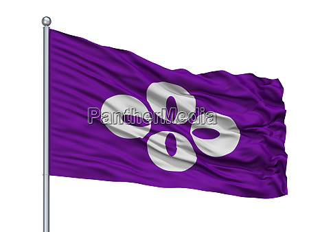 koshu city flag on flagpole japan