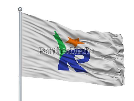 konan city flag on flagpole japan