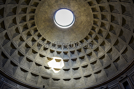 interior of the pantheon dome