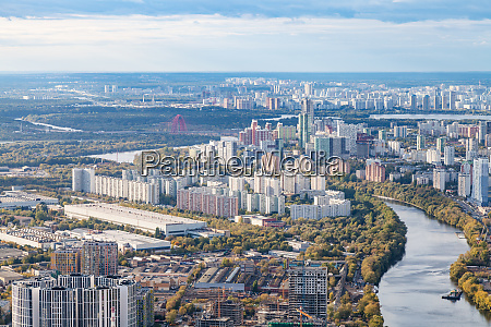 aerial view of northwest of moscow