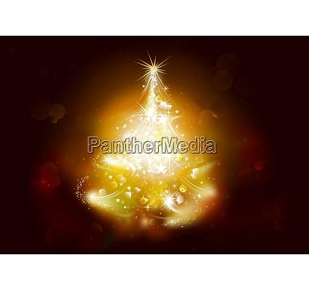 weihnachtsgrund mit sternenbaum