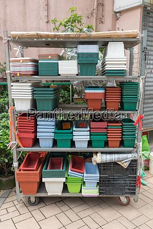 flower pots cart