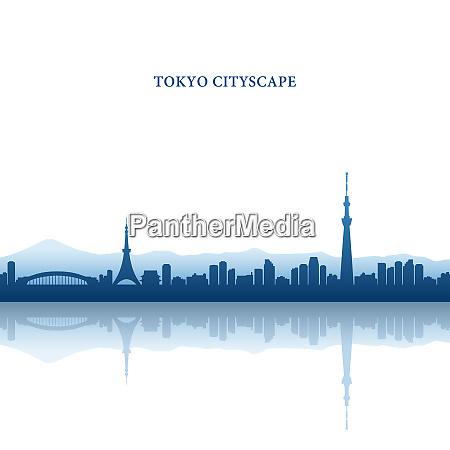 tokyo cityscape tokyo tower und tokyo