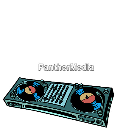 dj plattenspieler musikkonsole isolieren auf weissem