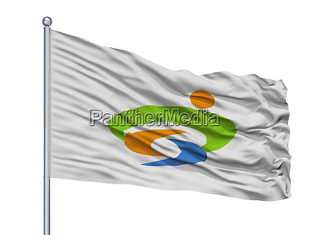 yasugi city flag on flagpole japan