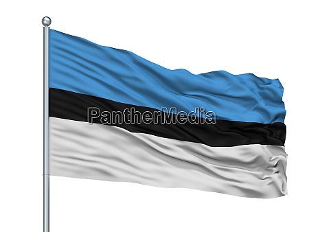 edine city flag on flagpole moldova