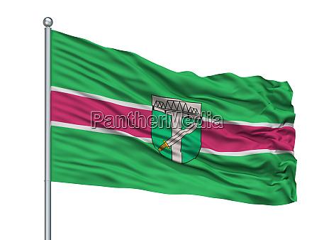 lubana city flag on flagpole latvia