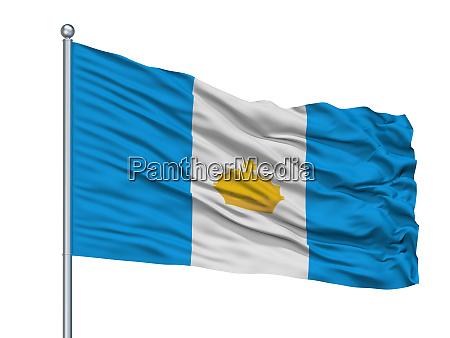 sterlitamak city flag on flagpole russia