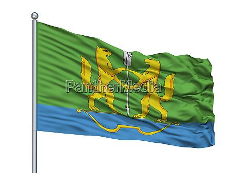 buzuluk city flag on flagpole russia