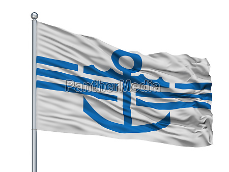 magadan city flag on flagpole russia
