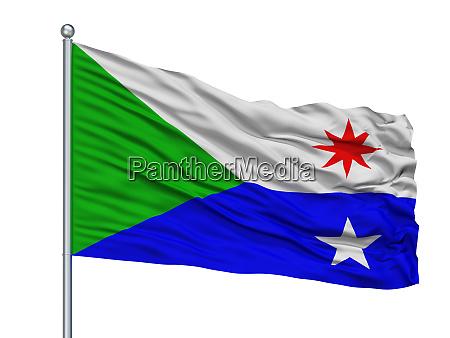 chattanooga city flag on flagpole usa