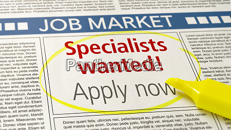 job ad in a newspaper