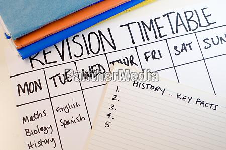 revisions oder studienfahrplan konzept
