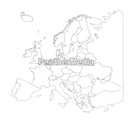 map of europe with country borders