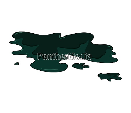 oil puddle simple vector design isolated