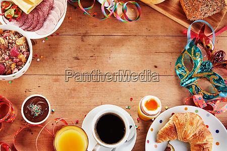 healthy carnival or mardi gras breakfast