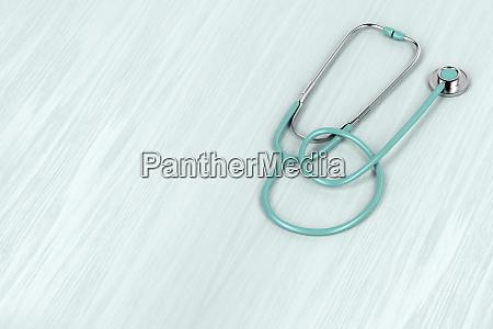 stethoskop auf holzhintergrund