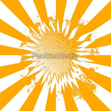 orange and white abstract burst