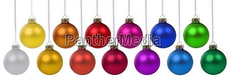 weihnachtskugeln kugeln banner deko farben dekoration