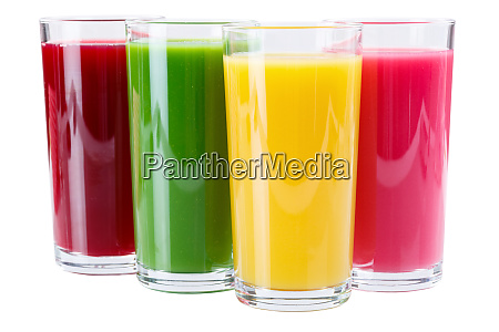 juice in glass isolated on white
