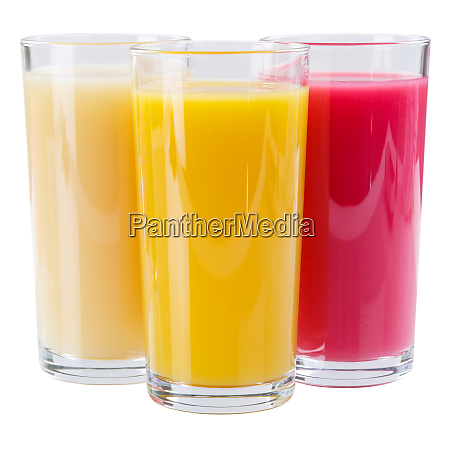 juice smoothie in glass square isolated