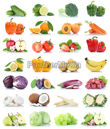 fruit fruits and vegetables collection isolated