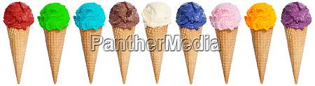 ice cream scoop collection sundae cone